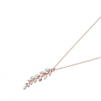 Collier Femme Swarovski Mayfly plaqué doré rose 5409340
