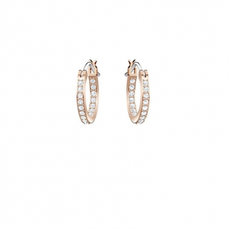 Boucles d'oreilles Swarovski créoles Duo Moon, plaqué or 5440458