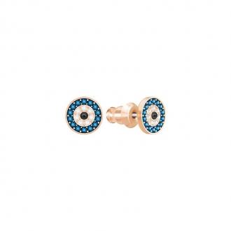 Boucles d'oreilles Swarovski Duo Evil Eye plaqué or rose 5377720