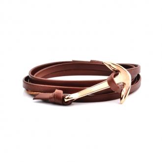 Bracelet Carador cuir avec ancre