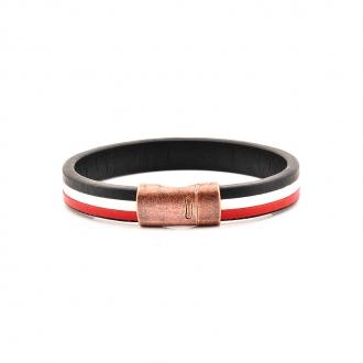 Bracelet Carador rouge/blanc/noir