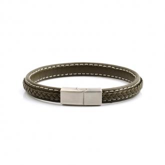 Bracelet Carador cuir kaki