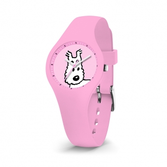 Montre Tintin Ice-Watch rose cadran milou