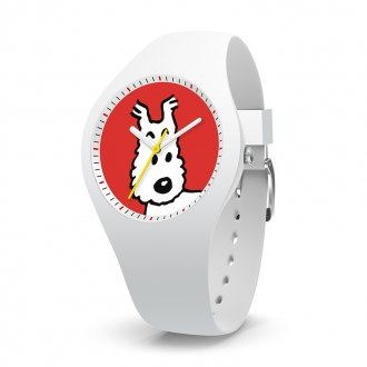 Montre Tintin Ice-Watch cadran rouge Milou
