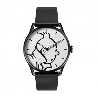 Montre Tintin Ice-Watch cadran blanc bracelet noir