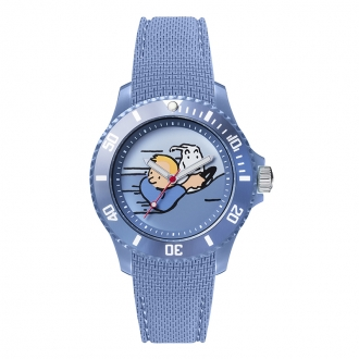 Montre Tintin Ice-Watch bracelet bleu