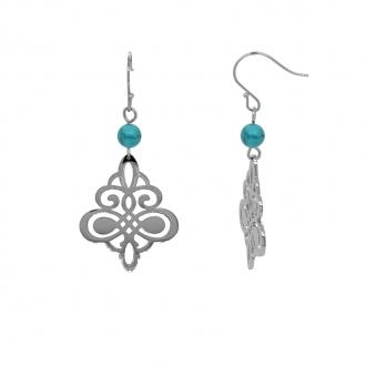 Boucles d'oreilles pendantes Amporelle arabesque dentelle LWB3340-U
