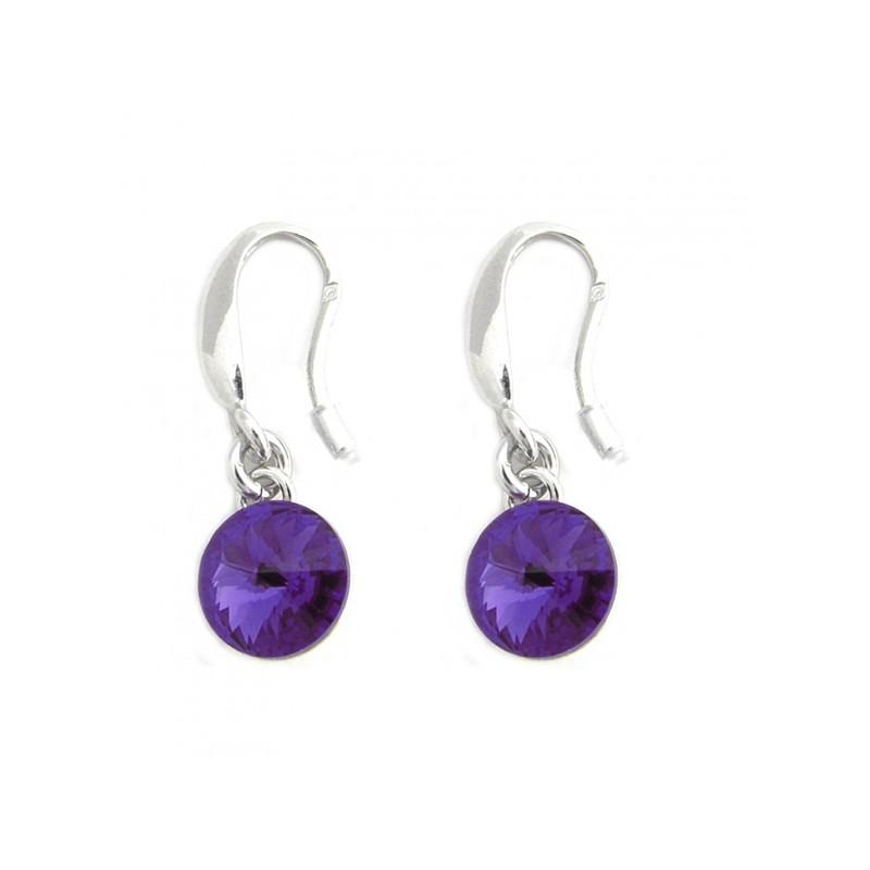 Boucles d'oreilles Indicolite Emily cristal violet BOCR-EMI-539