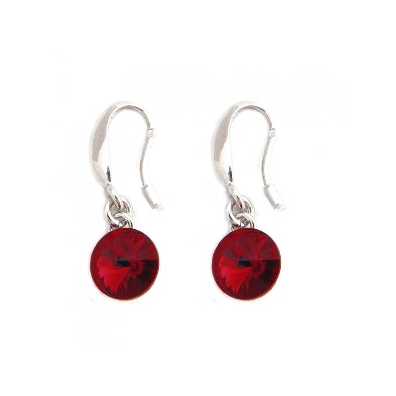 boucle d'oreille cristal rouge