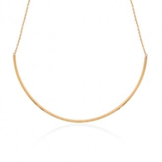 Collier semi rigide Amporelle en acier doré LSN3623-IPG