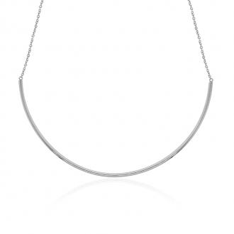 Collier semi rigide Amporelle en acier argenté LSN3623-N