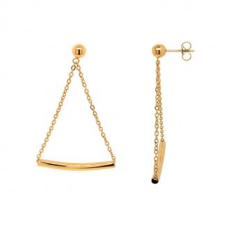 Boucles d'oreilles femme Amporelle pendantes en acier doré LWB3485-IPG