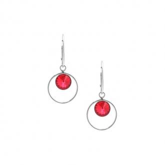 Boucles d'oreilles Indicolite Juliette cristal rouge DO-JULI-227