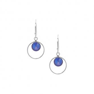 Boucles d'oreilles Indicolite Juliette cristal bleu DO-JULI-206