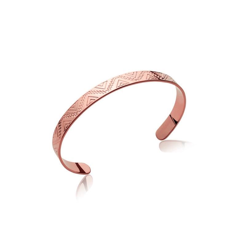 bracelet femme plaque or rose
