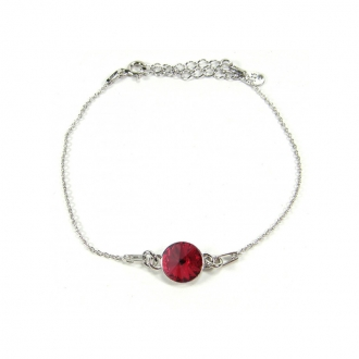 Bracelet Indicolite Emily cristal rouge BR-EMI-208
