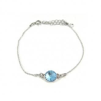 Bracelet Indicolite Emily cristal ble ciel BR-EMI-202
