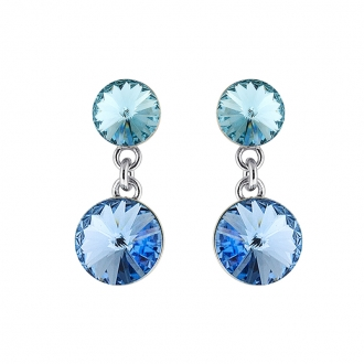 Boucle d'oreilles Indicolite Ronde cristal bleu BOPU-RICO2-211