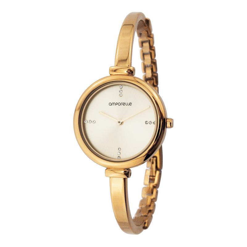 Montre Femme Amporelle bracelet rigide doré P100775-C2