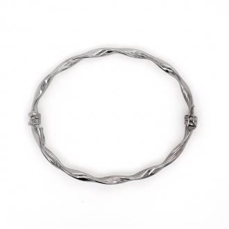 Bracelet jonc Carador torsadé argent 925/000