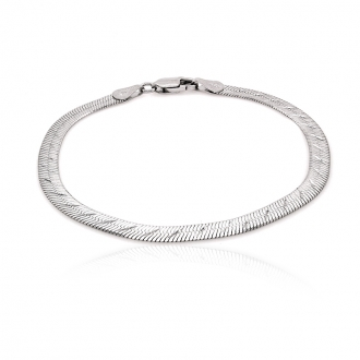 Bracelet femme Carador maille plate fantaisie argent 925/000 4 mm