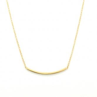 Collier Femme Carador minimaliste ligne courbe or 375/000