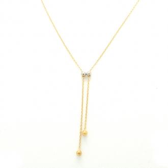 Collier Femme Carador minimaliste billes or 375/000