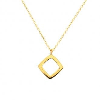Collier Femme Carador minimaliste carré or 375/000
