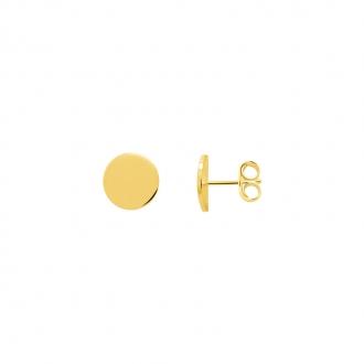 Boucles d'oreilles Femme Carador minimaliste disque or 375/000