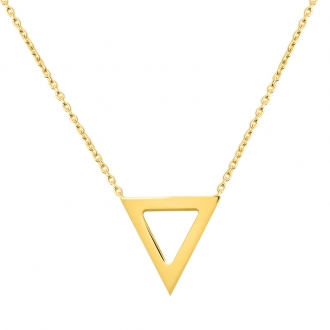 Collier Femme Carador minimaliste triangle or 375/000