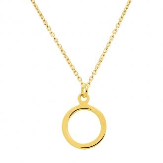 Collier Femme Carador minimaliste cercle or 375/000