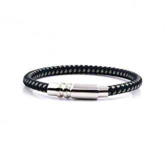Bracelet Carador noir fermoir brillant