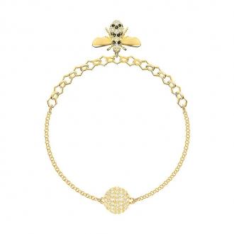 Bracelet Swarovski Remix Bee métal doré 5380077