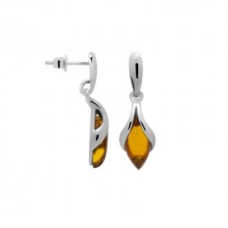 Boucles d'oreilles Carador ambre