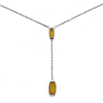 Collier Carador ambre et argent 925/000