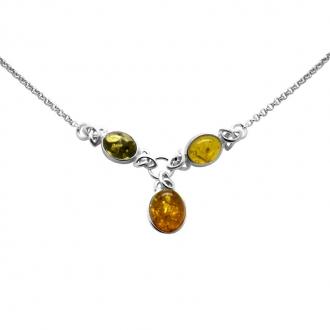 Collier Carador ambre/argent