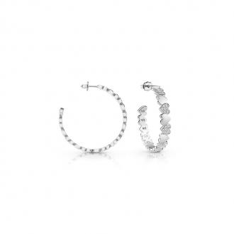 Boucles d'oreilles Créoles Guess Heart Bouquet argnetées UBE85046