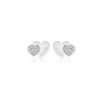 Boucles d'oreilles Femme Guess Million Hearts argentées UBE84118
