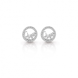 Boucles d'oreilles clous Guess Authentics argenté UBE85075