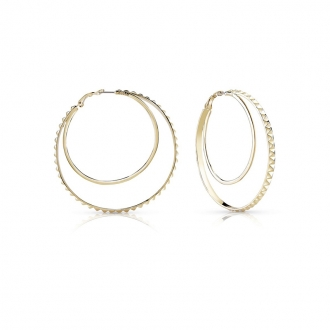 Boucles d'oreilles Créoles Guess métal doré UBE84070