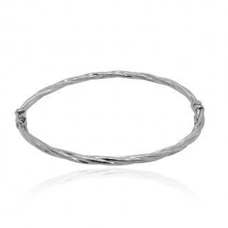 Jonc bracelet Argent 925/000e Carador 139BK3W