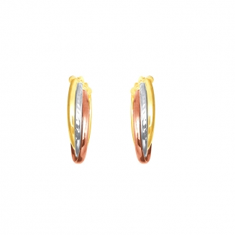 Boucles d'oreilles Carador or 375/000 eme