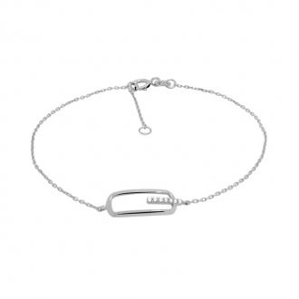 Bracelet Carador Or blanc 375/000 Tendance BR381