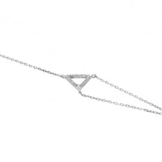 Bracelet Carador Triangle Or blanc BR255