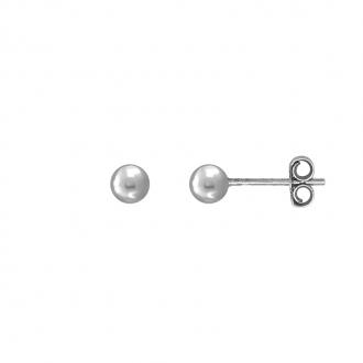 Boucles d'oreilles Carador boule 4 mm en argent 925/000