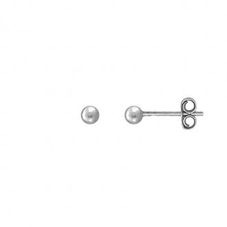Boucles d'oreilles Carador boule 3 mm en argent 925/000