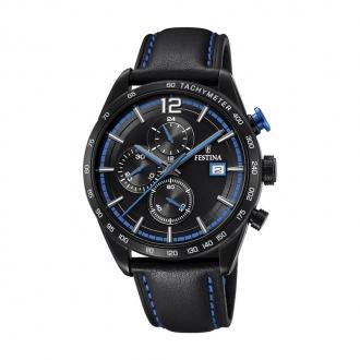 Montre Homme Festina Timeless noire et bleue F20344/4
