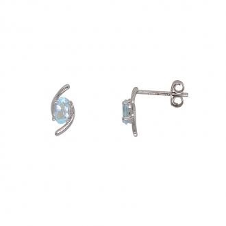 Boucles d'oreilles Carador pierre bleu clair