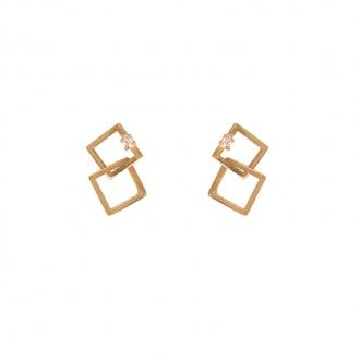 Boucles d'oreilles Carador formes carrés
