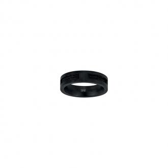 Bague Phebus acier cable noir